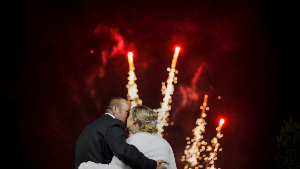 Fun Bawtry hall wedding film with fireworks